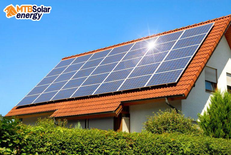 ตัวอย่างบ้านที่ติดตั้ง ระบบโซล่าเซลล์ (Solar Cell System)